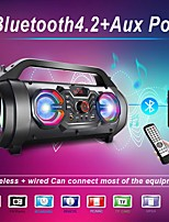 cheap -Portable Bluetooth Speakers 30W Loud Outdoor Speakers with Subwoofer FM Radio RGB Colorful Lights EQ Stereo Sound 10H Playtime Boombox Wireless Speaker for Home Party Camping Travel