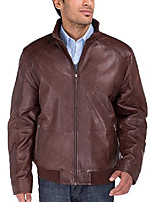 cheap -luciano natazzi men's trim fit lambskin leather moto jacket vintage washed (large, brown)