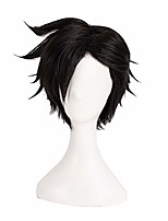 cheap -anime cosplay wig short black styled wig christmas halloween party wig for men boys