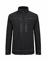 cheap -softshell jacket for men waterproof windproof fleece coat - camping hiking mountaineer travel (black, s)