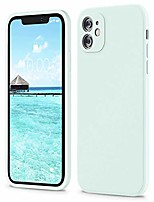 cheap -square silicone case compatible with iphone 11 case 6.1 inches, square edges liquid silicone phone case (individual protection for each lens) for iphone 11 (seafoam)