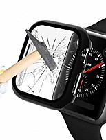 cheap -black hard case compatible with apple watch series 6/5 / 4 38mm with screen protector, hard pc case slim tempered glass screen protector overall protective cover for iwatch series 5/4