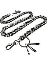 cheap -heavy thick curb cuban link wallet chain swivel trigger snap biker punk key chain (23 inch, gun-metal)