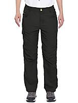 cheap -women's stretch convertible pants zip-off quick dry hiking pants black size xl