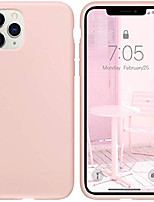 "cheap -iphone 11 pro max case pink sand, thin liquid silicone case, soft silk microfiber cloth, matte pink sand, gel rubber full body, cool protective shockproof cover 6.5"" - pink sand"