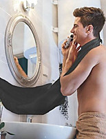 cheap -beard apron, beard catcher bib with suction cups for mirror. easy and effective way to keep your sink clean. perfect beard care shaving hair catcher gift for man, gift for boyfriend (black)