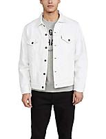 cheap -men's vintage fit trucker jacket, white out, x-large