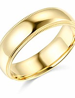 cheap -mens 14k yellow gold solid 6mm classic fit milgrain traditional wedding band ring - size 10.5