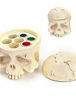 cheap -tattoo ink cup holder 7 holes skull head stand hard resin tattoo pigment ink cup caps holder stand for tattoo supplies permanent makeup tattoo kit tattoo accessory ……