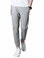 cheap -mens hiking joggers sweatpants light breathable quick dry running sports pants with zipper pockets(3509light gray s)