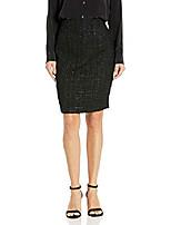 cheap -women's metallic novelty skirt, black, 6