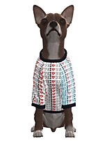 cheap -Dog Shirt / T-Shirt Geometric Quotes & Sayings Casual / Sporty Fashion Christmas Casual / Daily Winter Dog Clothes Puppy Clothes Dog Outfits Breathable White Costume for Girl and Boy Dog Polyster S M