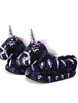 cheap -Adults' Kigurumi Pajamas Slippers Unicorn Flying Horse Onesie Pajamas Cotton Black Cosplay For Men and Women Animal Sleepwear Cartoon Festival / Holiday Costumes / Shoes
