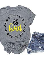 cheap -bees kind t shirt women cute graphic short sleeve baseball casual tee tops (m, gray1)