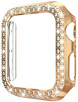 cheap -[1-pack] aladrs bling hard bumper frame compatible with apple watch 42mm case, double row shiny crystal diamonds protective cover for iwatch series 3 series 2 series 1 (rose gold 42mm)
