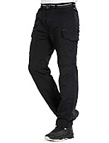 cheap -men's hiking convertible quick dry outdoor lightweight hiking outdoor fishing zip off cargo work pants trousers #6055 black-32