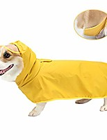 cheap -dog raincoat, lightweight dog rain jacket, pet waterproof clothes poncho for small medium dogs, dog rainwear with hood & collar hole transparent brim, yellow pet rain coat gear for your puppy