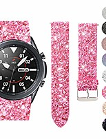 cheap -1 pack compatible with samsung galaxy watch 3 41mm band, 20mm leather bling sequins watch bands wristband strap with quick release replacement for samsung galaxy watch 3 41mm