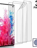 "cheap -[3 pack] galaxy s10 screen protector - flexible tpu film hd clear [fingerprint recognition] [case-friendly] [anti-scratch] [bubble free] premium protective film for samsung galaxy s10 (6.1"")"
