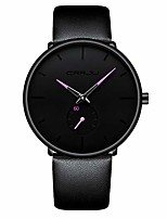 cheap -mens watches ultra-thin minimalist waterproof-fashion wrist watch for men unisex dress with leather band-purple hands