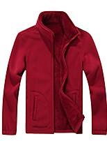 cheap -men's outdoor sport stand collar sherpa lined polar fleece jacket outwear red xxxxl
