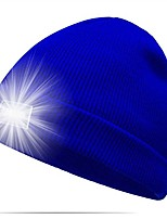 cheap -lighted beanie cap ultra bright 5 led hands free unisex winter warm headlamp hat for hunting,camping, grilling, auto repair, jogging, walking, running,biking (blue)