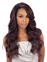 cheap -freetress equal brazilian natural deep invisible l part lace front wig - danity (613)