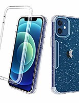 cheap -compatible with iphone 12 case/iphone 12 pro case, crystal clear three layer shockproof protective hard plastic & soft tpu 3 in 1 cover case for iphone 12/12 pro 6.1 inch,glitter