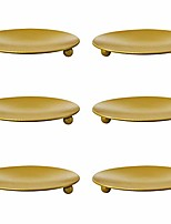 cheap -iron plate candle holder,decorative rustless candlestick plates,mounting candle stand for led & wax candles,wedding,christmas & birthdays (gold, size 6)