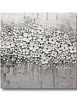 cheap -Oil Painting Hand Painted Canvas Abstract High Quality Wall Art Modern Rolled Without Frame White Blossom Grey