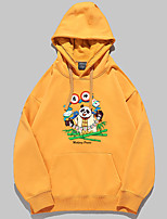 cheap -Women's Pullover Hoodie Sweatshirt Graphic Cartoon Panda Front Pocket Daily Basic Casual Hoodies Sweatshirts  White Black Red / Fleece Lining