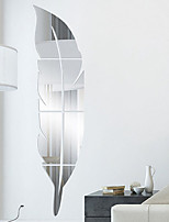 cheap -Feather Fitting Mirror Sticker 3d Stereo Acrylic Mirror Sticker Removable 3D Wall Stickers