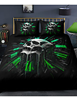 cheap -Skull Series Black 3-Piece Duvet Cover Set Hotel Bedding Sets Comforter Cover with Soft Lightweight Microfiber For Holiday Decoration(Include 1 Duvet Cover and 1or 2 Pillowcases)