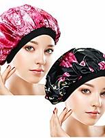 cheap -2pcs breathable satin sleep caps – soft night bonnet with wide premium elastic band, hair loss cap sleeping head cover for women