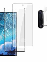 cheap -[2+2pack]galaxy note 10 plus screen protector[camera lens protector] [3d curved] [9h tempered glass][ultrasonic fingerprint compatible] [hd clear][bubble-free]for samsung galaxy note 10+ (6.8inch)