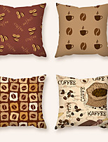 cheap -Cushion Cover 4PC Short Plush Soft Decorative Square Throw Pillow Cover Cushion Case Pillowcase for Sofa Bedroom 45 x 45 cm (18 x 18 Inch) Superior Quality Machine Washable