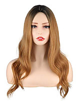 cheap -long blonde wavy wigs ombre blonde middle part wigs for women medium long blonde wigs with dark roots synthetic heat resistant wavy wigs 20 inch (ombre blonde)