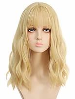 cheap -gold wavy wig air bangs women short hiyoko saionji wig curly synthetic cosplay wig for girl colorful costume wigs