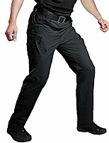 cheap -men's outdoor work quick dry military tactical pants slim fit hiking pants mens lightweight cargo pants black 34