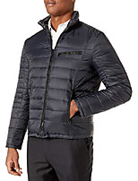 cheap -emanuel by  men's down reversible puffer with camo print, black, x-large