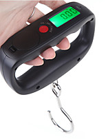 cheap -50kg /10g Digital Portable Electronic Luggage Weight Hook Hanging Scale LCD Display kg / lb / oz / g Black