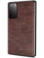 cheap -salawat galaxy s20 plus case, slim pu leather vintage shockproof phone case cover lightweight soft tpu bumper hard pc hybrid protective case for samsung galaxy s20 plus 6.7inch 2020 (dark brown)