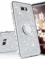 cheap -compatible with samsung galaxy s7 edge case,bling glitter sparkle crystal diamond rhinestone bumper tpu rubber silicone cover phone case with ring kickstand for samsung galaxy s7 edge,silver