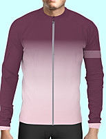 cheap -CAWANFLY Men's Long Sleeve Cycling Jersey Polyester Violet Bike Jersey Top Mountain Bike MTB Road Bike Cycling Quick Dry Sports Clothing Apparel / Stretchy / SBS Zipper / Italian Ink