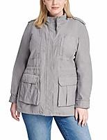 cheap -women's plus size cotton field parka jacket, grey, 3x