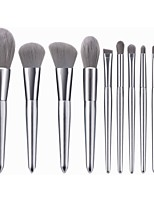 cheap -10 Silver Snow Makeup Brush Set Moonlight Silver Handle Makeup Brush Powder Brush Beauty Tool