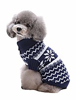 cheap -pet dog sweaters for small dogs, turtleneck sweater cable knit clothes festival cat knitwear knitting puppy sweater pullover classic winter warm coats jacket for cold weather apparel