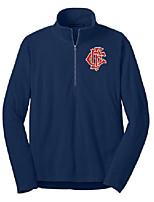 cheap -chicago fire department 1/2 zip microfleece pullover jacket f224 (medium) navy blue