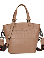 cheap -Women's Bags PU Leather Leather Satchel Top Handle Bag Zipper Daily Outdoor Handbags Baguette Bag Black Blue Red Khaki
