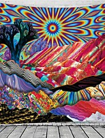 cheap -Psychedelic Abstract Wall Tapestry Art Decor Blanket Curtain Hanging Home Bedroom Living Room Decoration Polyester Hippie Trippy Mountain Landscape Sun Forest